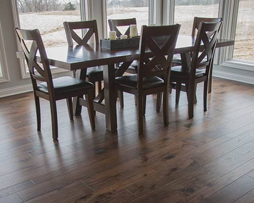 Monterrey Gaucho Dining Room Install in Lincoln NE | Hallmark Floors