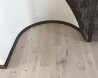 Ventura Seashell Stairway Install Portfolio by Gautsche. Hardwood flooring by Hallmark Floors.