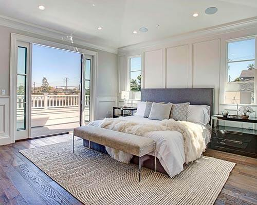 Organic 567 Earl Gray Master Bedroom Install in Manhattan Beach CA ...