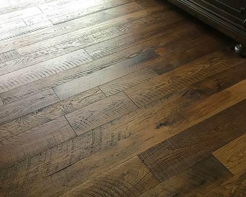 Engineered oolong Organic Hickory Hardwood Closeup by Dixie Flooring inc
