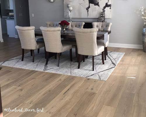 Alta Vista Balboa flooring install in dining room Mentor OH