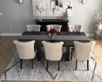 Alta Vista Balboa flooring install-in-dining room table Mentor OH