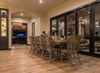 Gorgeous Dining Room Using Organic 567 Gunpowder Oak