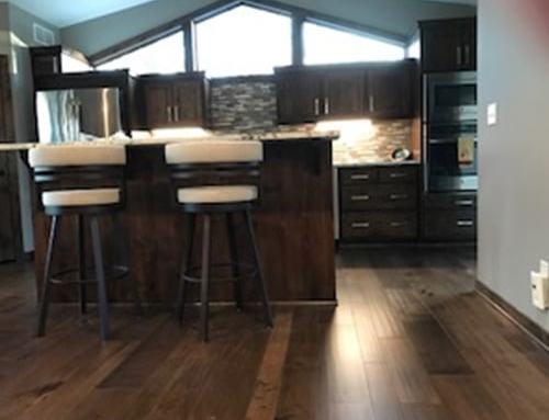 Monterey Bungalow Maple Kitchen Floor Installation Le Sueur, MN