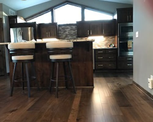 Monterey Bungalow Maple Kitchen Floor Installation Le Sueur, MN ...