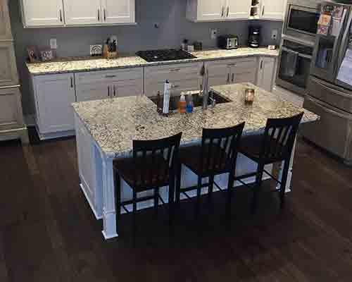 Monterey Gaucho Hickory Kitchen Floor Install Canandaigua, NY
