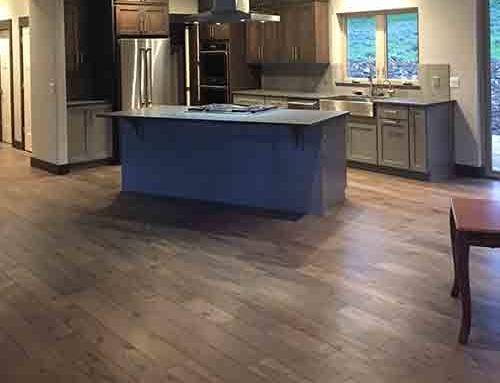 Novella Faulkner Hickory Kitchen Floor Installation Big Sky, MT