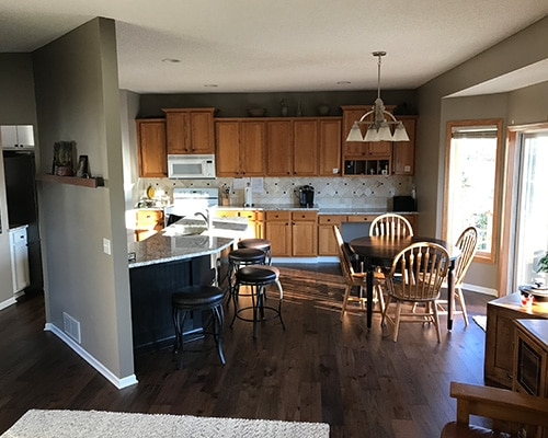 Novella thoreau kitchen floor installation shakopee mn for Novella homes