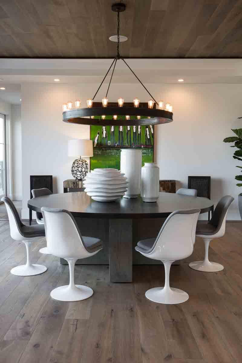 Novella Twain Dining Room Floor and Ceiling Installation