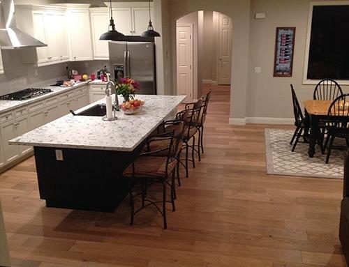 Ventura Sandal Kitchen and Dining Room Floor Installation Folsom, CA