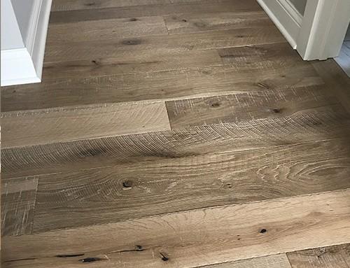 Organic 567 Engineered Chai White Oak Textured Hallway Slater IA