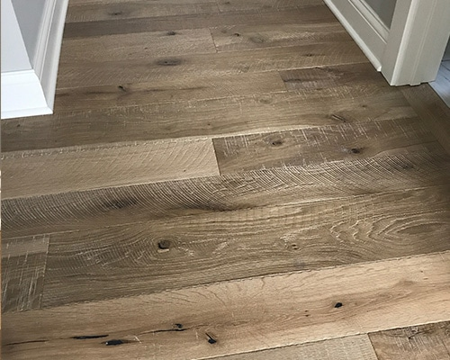 View Larger Image Textured Hallway Featuring Organic 567 Engineered Chai White Oak