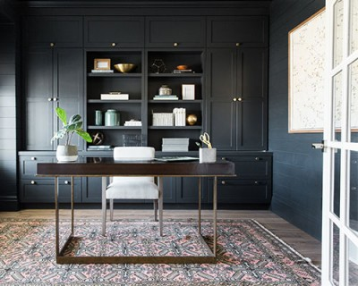 Office Featuring Studio McGee Design Malibu Floors