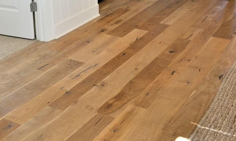Organic 567 Gunpowder Living Room Installation By Kings Custom Hardwood.  The Beauty Of Fumed