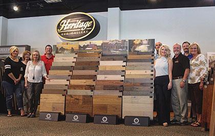 Becklers Carpet with their Hallmark Floors displays in Dalton, Georgia