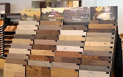Becklers Carpet with their Hallmark Floors hardwood flooring displays in Dalton, Georgia