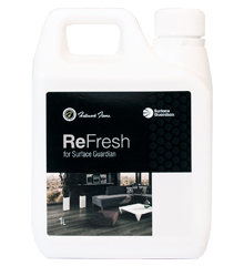 ReFresh for Surface Guardian finished floors is a maintenance product that will refresh and polish the finish of your floors. Refresh is not a cleaner.It will help make the finsih of your floors last longer and keep it looking beautiful.
