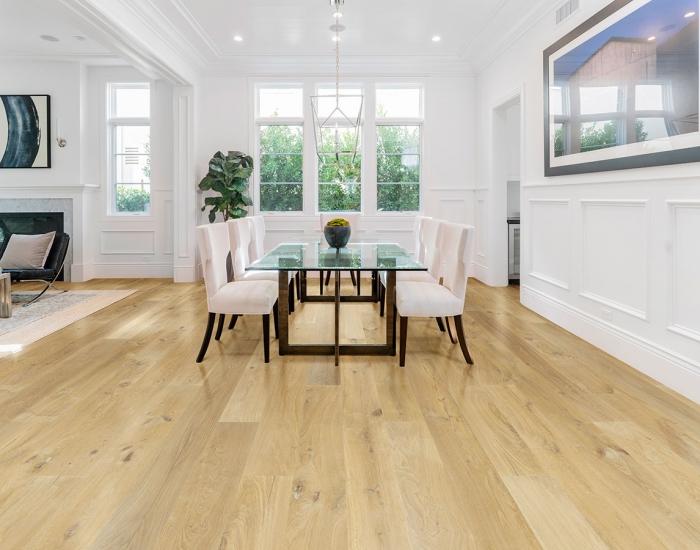 Malibu, Oak, for the Alta Vista Hardwood flooring collection by Hallmark Floors.