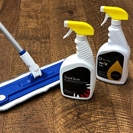 NuOil and TrueClean Maintenance products by Hallmark Floors