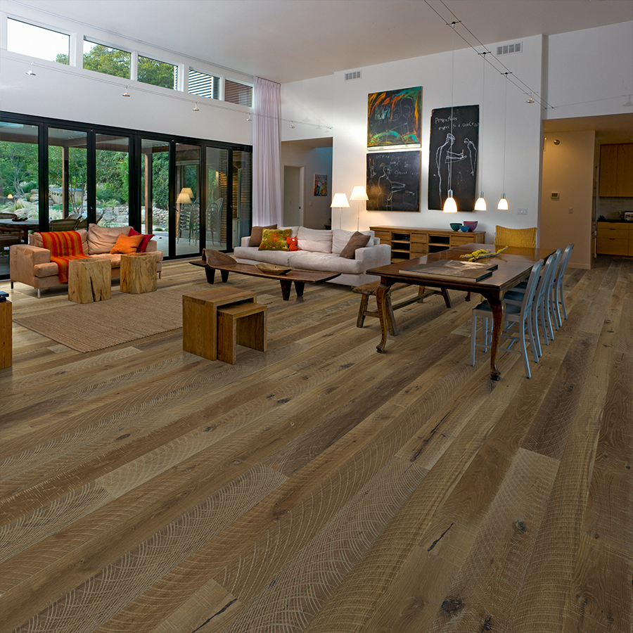 Product Gunpowder Oak Organic 567 Engineered Hardwood flooring by hallmark Floors.