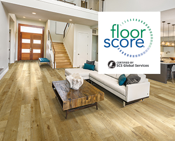 Hallmark Floors Waterproof Flooring is FloorScore Certified