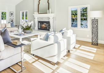 Light exposure and its effect on wood floors.