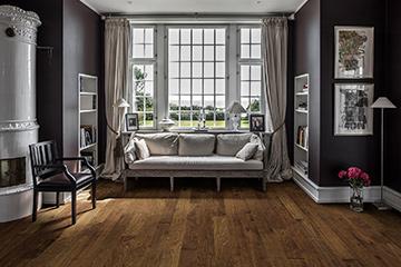 Product Tobacco Birch, Silverado flooring in a study by Hallmark Floors.