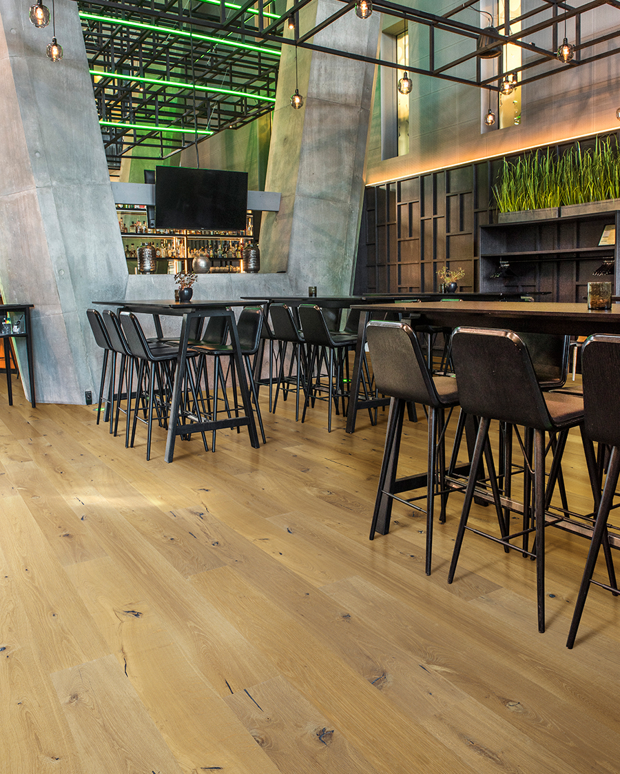 Hospitailty commercial floors. Del Mar, Oak, Commercial Hardwood Flooring by Hallmark Floors.