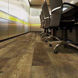 Product Monarch Hickory Wood-like waterproof commercial grade flooring by Hallmark Floors. Ez-Loc waterproof rigid flooring. Product is from the Courtier Waterproof Collection.