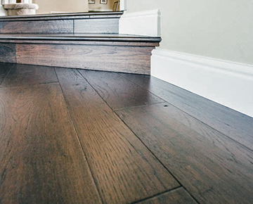 Monterey engineered wood floors has a Glazetek finish. Glazetek is an exclusive finish by Hallmark Floors.