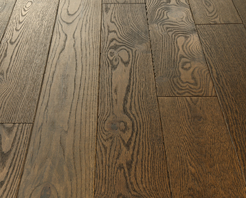 Durable Solid Hardwood Top Surface with Nu Oil Finish. Product is Potter red oak from the Crestline solid wood floors collection by Hallmark Floors.