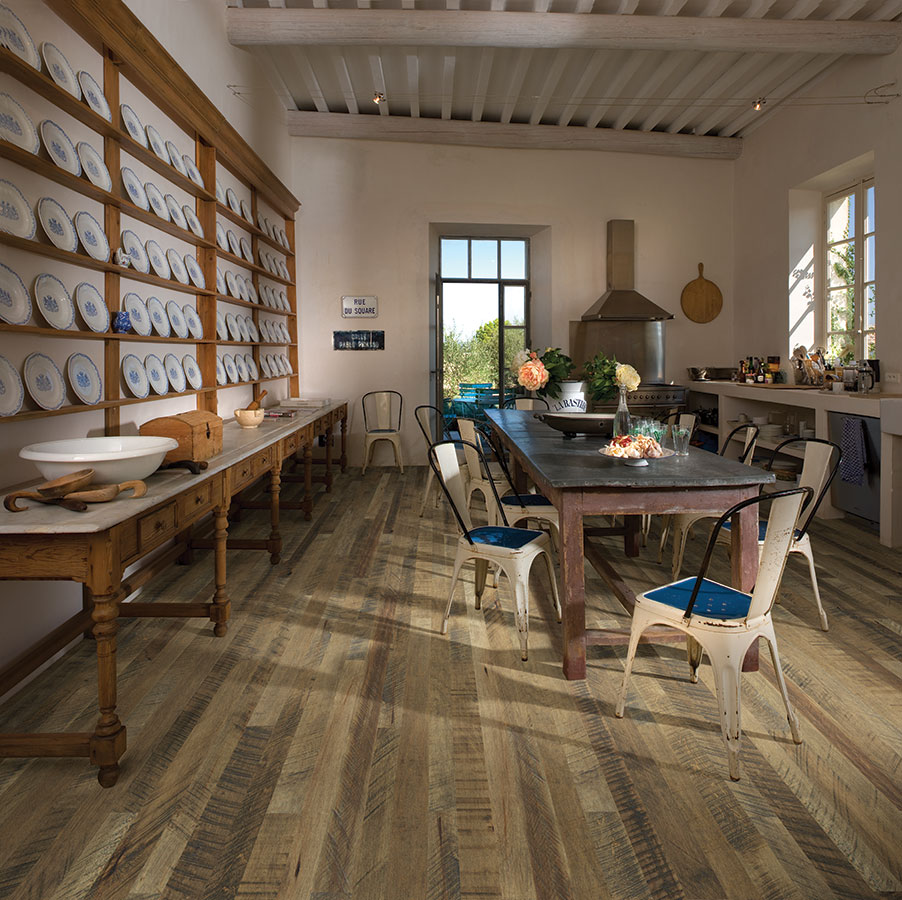 Cardamom Maple Hardwood from the Organic Solid Hardwood flooring collection | Cardamom maple hardwood creates a perfect complement to contemporary interiors and accentuating a vintage look. Features a reclaimed design with planks of random widths and lengths.
