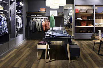 Product Argo Wood-like waterproof commercial grade flooring from the Courtier Commercial by Hallmark Floors. Ez-Loc waterproof rigid flooring.
