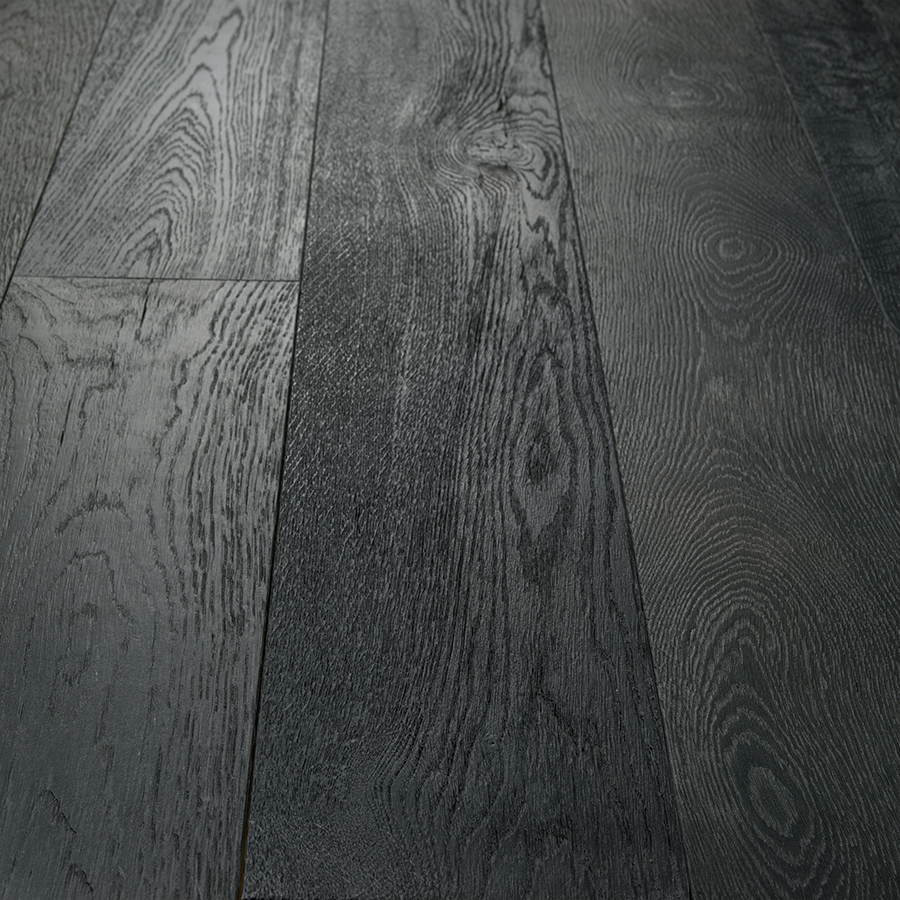 Onyx Oak Hardwood Floors from the True Hardwood Flooring Collection by Hallmark Floors. True Hardwood Flooring where the color goes throughout the surface layer without using stains or dyes.