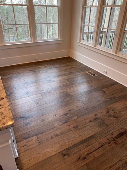 Hallmark Floors Monterey Casita American Hickory installation by Carpet Depot Roswell GA