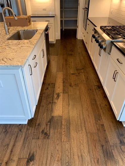 Hallmark Floors Monterey Casita American Hickory installation by Carpet Depot of Roswell GA