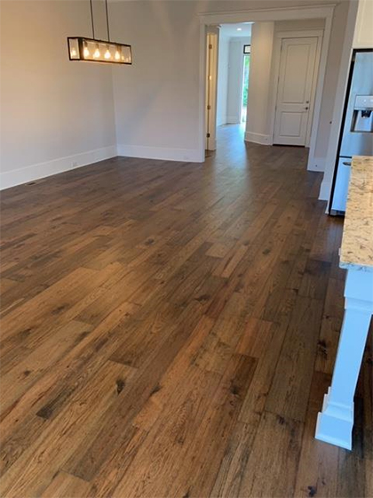 Hallmark Floors Monterey Casita Hickory install by Carpet Depot of Roswell GA