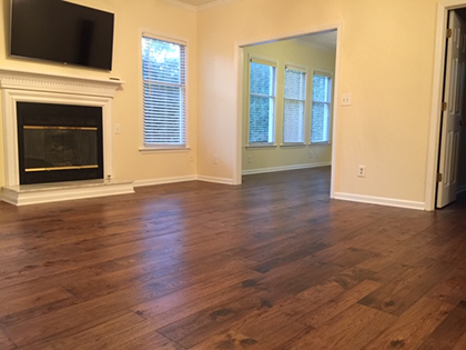Hallmark Floors Monterey Puebla living room install by Carpet Depot in Roswell GA
