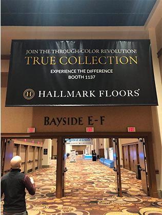 True Engineered Hardwood Flooring banner at TISE 2019