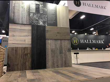 Mood walls at Hallmark Floors Booth 1137 for TISE 2019