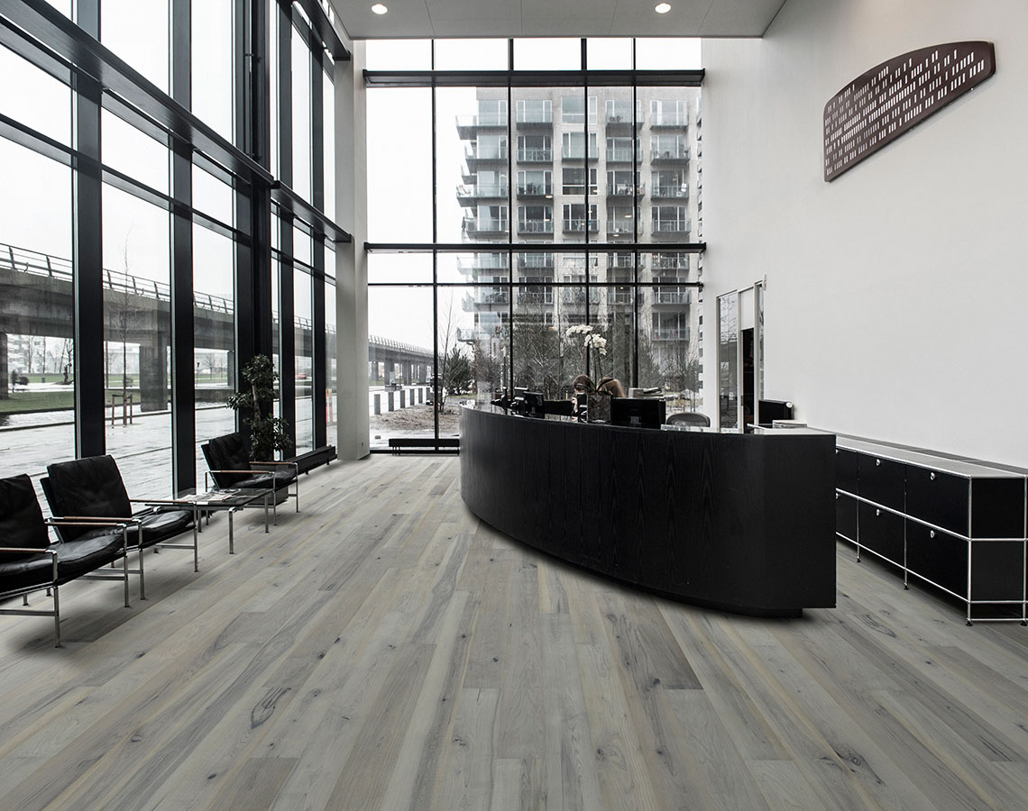 Juniper, Maple, Hardwood Floors from the True Hardwood Commercial Flooring Collection by Hallmark Floors. True Hardwood Flooring is an engineered wood floor where the color goes throughout the surface layer without using stains or dyes.