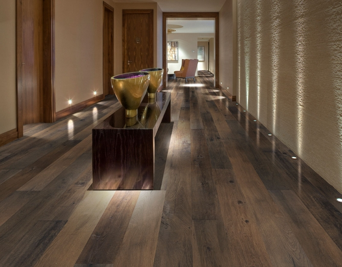 Neroli, Oak, Hardwood Commercial Flooring from the True Hardwood flooring collection by Hallmark Floors. True Hardwood flooring where the color goes throughout the surface layer without using stains or dyes.