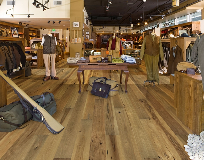 Orange Blossom, Hickory, from the True Hardwood Commercial Flooring Collection by Hallmark Floors