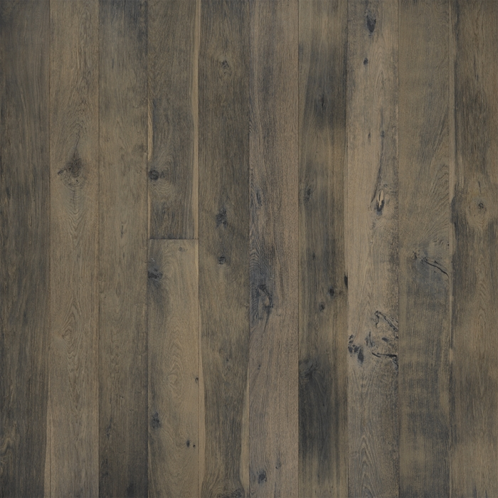 Gardenia Oak Hardwood Floors from the True Hardwood Flooring Collection by Hallmark Floors. True Hardwood Flooring is an engineered wood floor where the color goes throughout the surface layer without using stains or dyes.