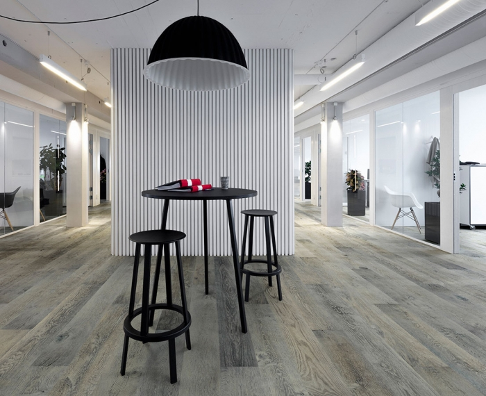 Silver Needle, Oak, from the True Hardwood Commercial Flooring Collection by Hallmark Floors