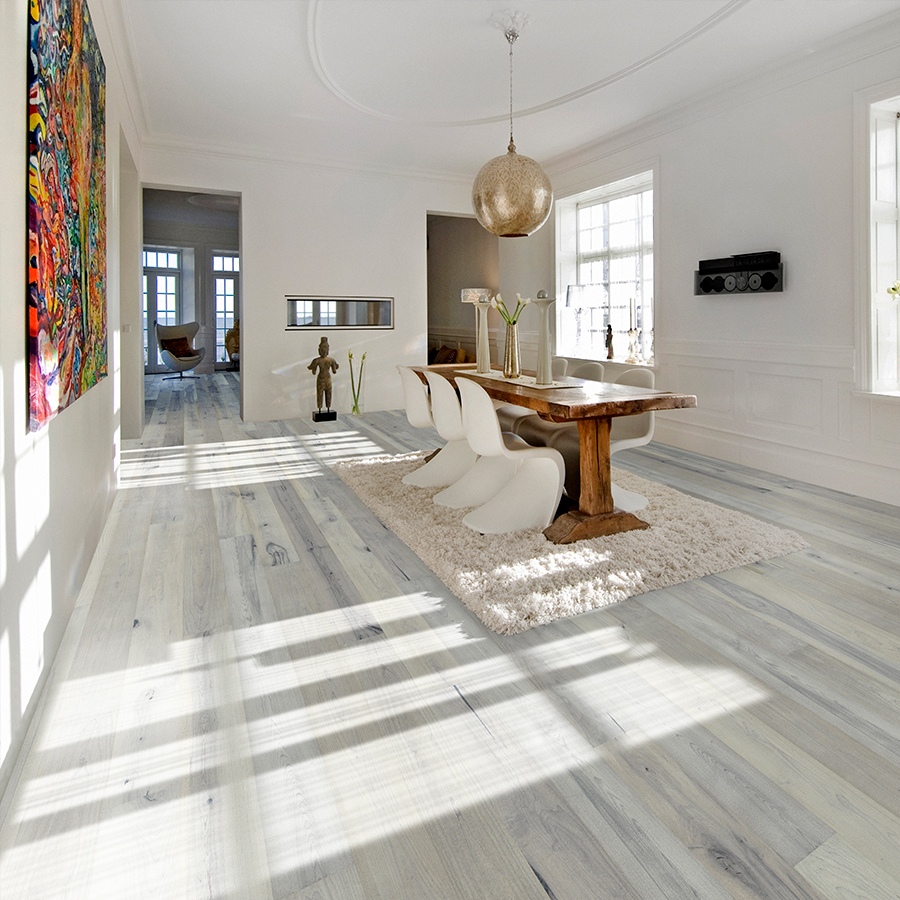 Juniper Maple Hardwood Floors from the True Hardwood Flooring Collection by Hallmark Floors. True Hardwood Flooring where the color goes throughout the surface layer without using stains or dyes.