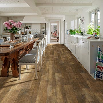 Duchess, Hickory, Courtier Rigid Collection by Hallmark Floors. Residential rigid click installation flooring.