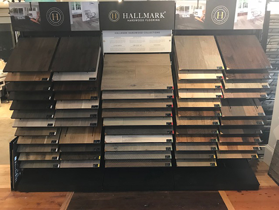 Hallmark Floors Hardwood Flooring display at Barefoot Floors in Mount Pleasant SC