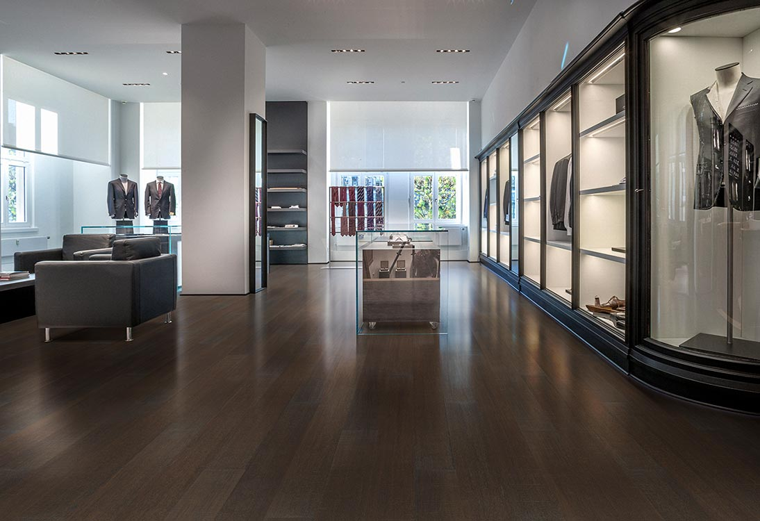 True has color throught-out the top surface layer. All floors in the True Collection have a wear (or surface) layer which carry color throughout! True is a New flooring collection by Hallmark Floors.