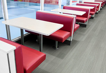 Rigid flooring verses vinyl floors starts with understanding the pros and cons of each type of flooring. 12 Mil commercial vinyl flooring. Product Chatham, Walnut . LVT Flooring.